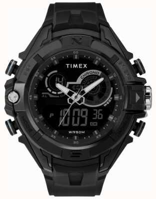 Timex Correa negra para hombre negro caso 47mm correa negra TW5M23300