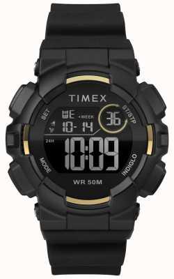 Timex Correa negra de 44mm para mujer con correa negra TW5M23600