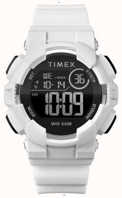 Timex Correa blanca de 44mm para mujer con correa blanca. TW5M23700