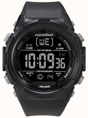 Timex Correa negra para hombre con caja negra de 50mm TW5M22300