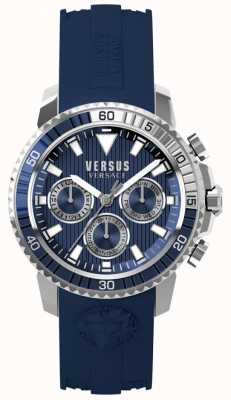 Versus Versace Correa aberdeen azul para hombre con correa de silicona azul S30040017