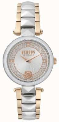 Versus Versace Reloj de cristal covent garden bicolor para mujer. SPCD250017
