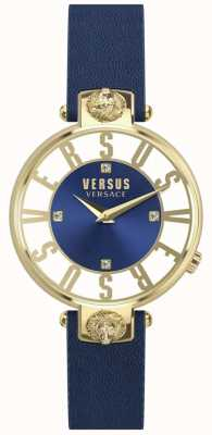 Versus Versace El | mujeres | kristenhof | esfera azul | correa de cuero azul | SP49020018
