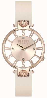 Versus Versace Mujeres kristenhof rose gold dial correa de cuero rosa SP49030018