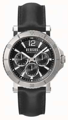 Versus Versace Correa de cuero negro para hombres steenberg negro SP52020018