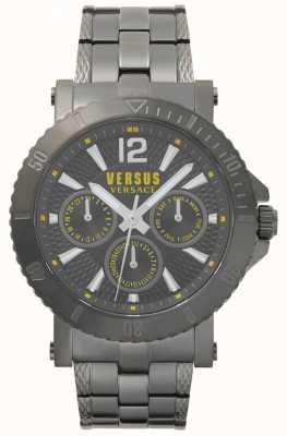 Versus Versace Mens steenberg gris dial gris pulsera de acero inoxidable SP52050018