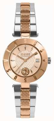 Versus Versace Pulsera de dos tonos con logo de oro rosa para mujer SP77260018
