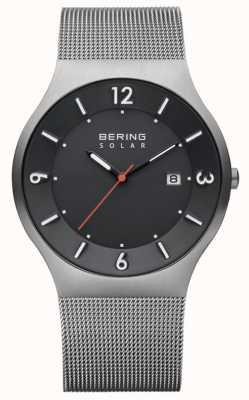 Bering Correa de malla de acero inoxidable con esfera gris para hombre 14440-077
