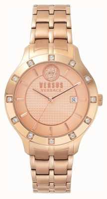 Versus Versace Brackenfell para mujer esfera de oro rosa pulsera de pvd de oro rosa SP46040018