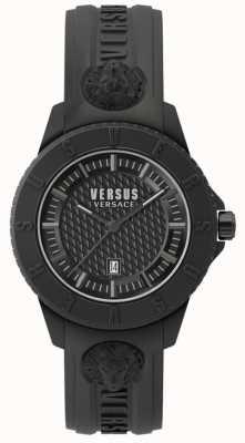 Versus Versace Correa negra de silicona Tokyo r blackdial SPOY230018