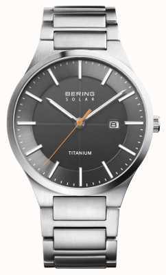 Bering Correa de titanio de plata solar para hombre 15239-779