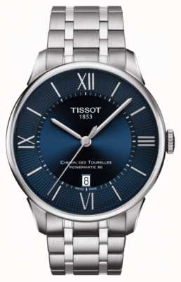 Tissot Mens chemin des tourelles powermatic 80 acero inoxidable T0994071104800