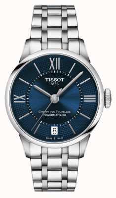 Tissot Chemin des tourelles powermatic 80 acero inoxidable esfera azul T0992071104800