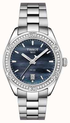 Tissot Mujeres pr 100 sport chic 36mm acero inoxidable azul T1019106112100