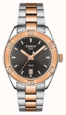 Tissot Pr 100 sport chic 36 mm esfera negra en dos tonos para mujer T1019102206100