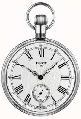 Tissot Reloj mecánico de bolsillo Lepine de acero inoxidable T8614059903300