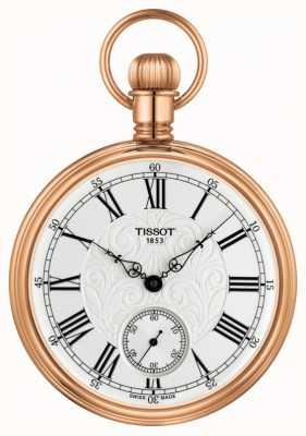 Tissot Reloj mecánico de bolsillo Lepine en baño de oro rosa T8614059903301