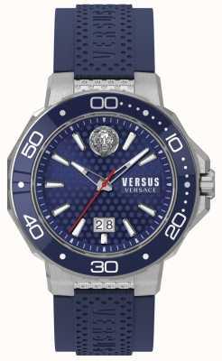 Versus Versace Pulsera hombre acero kalk bay acero inoxidable esfera azul. VSP05020018