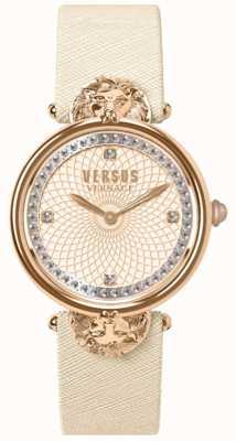Versus Versace Correa de cuero para mujer victoria harbour crema esfera rosa VSP33130018