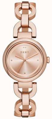 DKNY Chapado en pvd de oro rosa de lado este para mujer NY2769