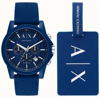 Armani Exchange Conjunto de regalo para reloj deportivo para hombre AX7107