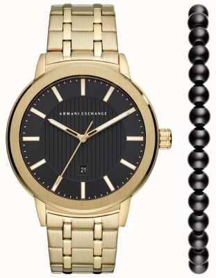 Armani Exchange Conjunto de regalo para reloj urbano para hombre AX7108
