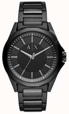 Armani Exchange Hombres de acero inoxidable negro AX2620