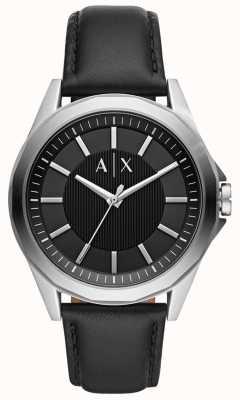Armani Exchange Reloj de vestir para hombre | correa de cuero negro | AX2621