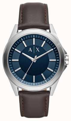 Armani Exchange Armani exchange mens vestido reloj correa marrón AX2622