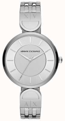Armani Exchange Vestido de mujer reloj inoxidable robar AX5327