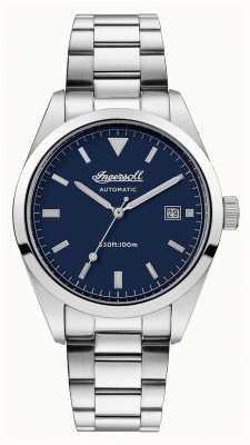 Ingersoll Pulsera azul para hombre de acero inoxidable de la dependencia. I05502
