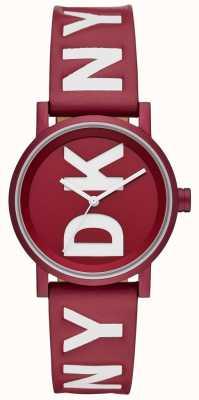 DKNY Señoras soho reloj de cuero rojo NY2774