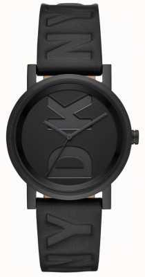 DKNY Señoras soho reloj correa de cuero negro NY2783