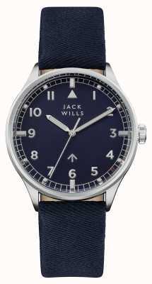 Jack Wills Correa de cuero azul marino para hombre color azul marino JW001BLSS