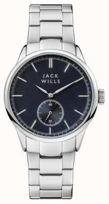 Jack Wills Pulsera hombre acero forster esfera azul acero inoxidable. JW004BLSL