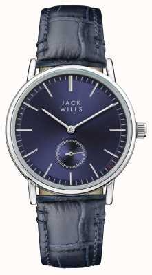 Jack Wills Correa de cuero azul con hebilla azul para mujer JW007BLSS