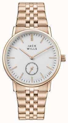 Jack Wills Pulsera de buckley pvd en oro blanco para mujer. JW007WHRS