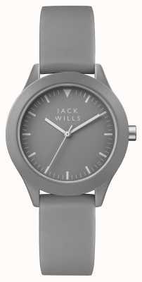 Jack Wills Correa de silicona gris para mujer union gris esfera JW008GYGY