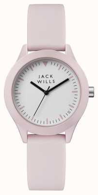 Jack Wills Correa silicona mujer esfera blanca esfera rosa JW008PKPK