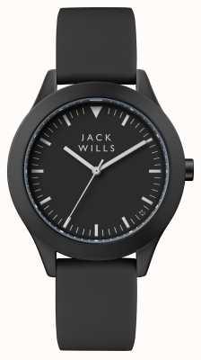 Jack Wills Correa de silicona negra para hombre marca negra dial JW009BKBK