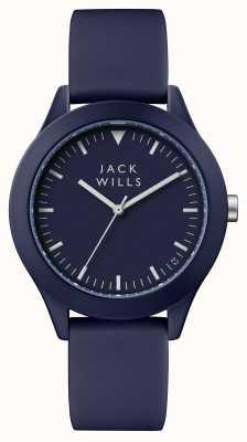 Jack Wills Correa de silicona para hombre azul de dial azul union JW009BLBL