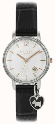 Radley Ladies small watch correa plateada correa negra RY2717