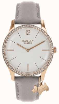 Radley Reloj de señora de oro rosa con correa de piel de fresno. RY2702