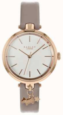 Radley Señoras reloj correa de cuero de telaraña caja de oro rosa RY2728