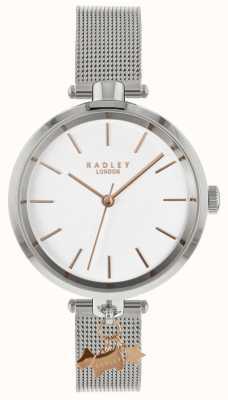 Radley Reloj de malla de plata para mujer RY4363