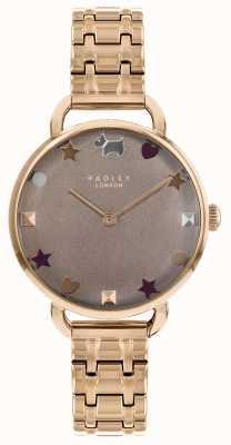 Radley Las señoras miran la pulsera abierta del hombro del oro color de rosa RY4350