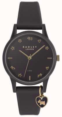 Radley Reloj de mujer de silicona púrpura con marcadores de oro pálido RY2696