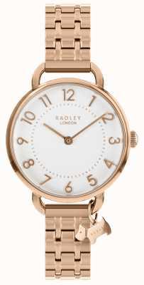 Radley Reloj de mujer pulsera de oro rosa con hombro abierto RY4344