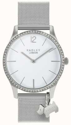 Radley Damas cristales swarovski esfera blanca acero inoxidable RY4353