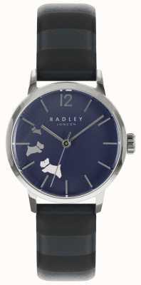 Radley Esfera de satén con tinta azul para mujer RY2675